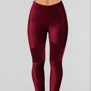 Motorsport Corduroy Leggings - Wine